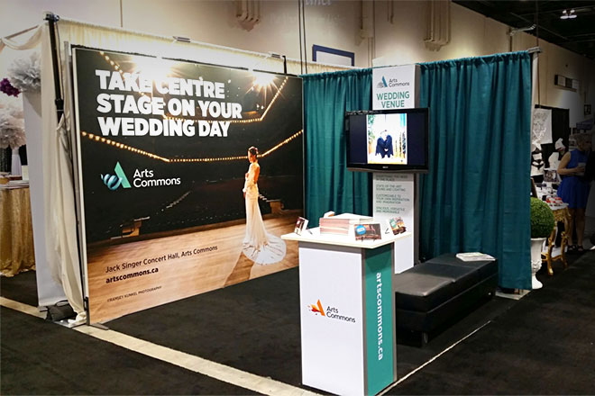 Panoramic P-line Portable Trade Show Booth - Arts Commons