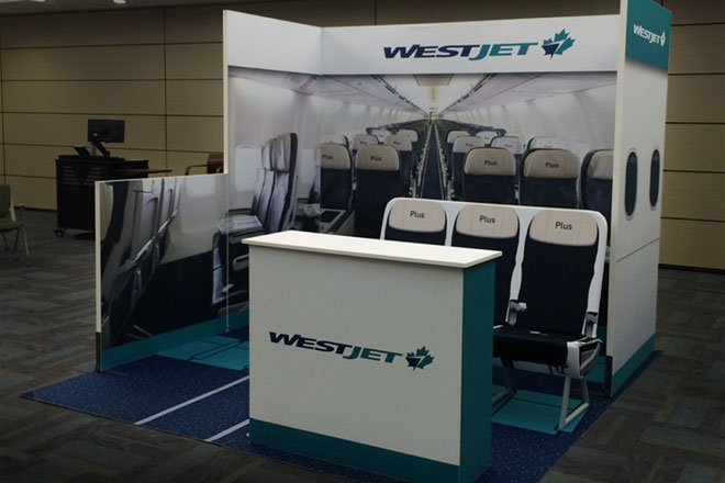 Panoramic P-line Portable Trade Show Booth - WestJet