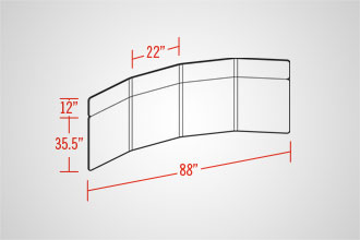 EasyWall 2202 (4 Panel w/ Header)