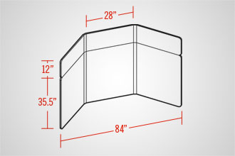 EasyWall 2802 (3 Panel w/ Header)