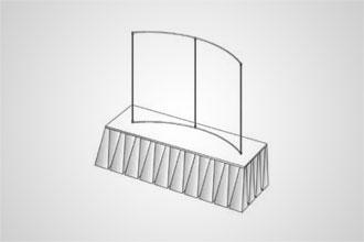 4' x 6' Horizontal Curve (Tabletop)