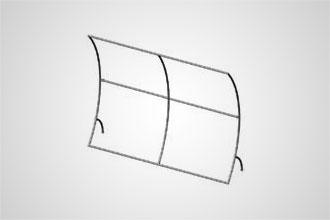 8' x 10' Vertical Curve