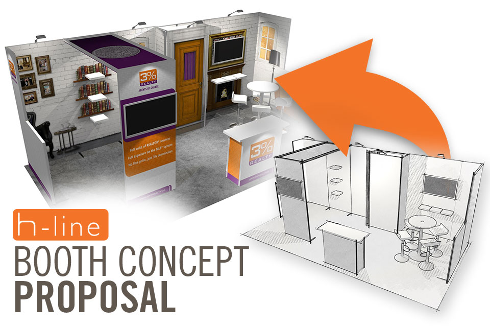 Exhibition Booth Proposal : H line trade show booth kits