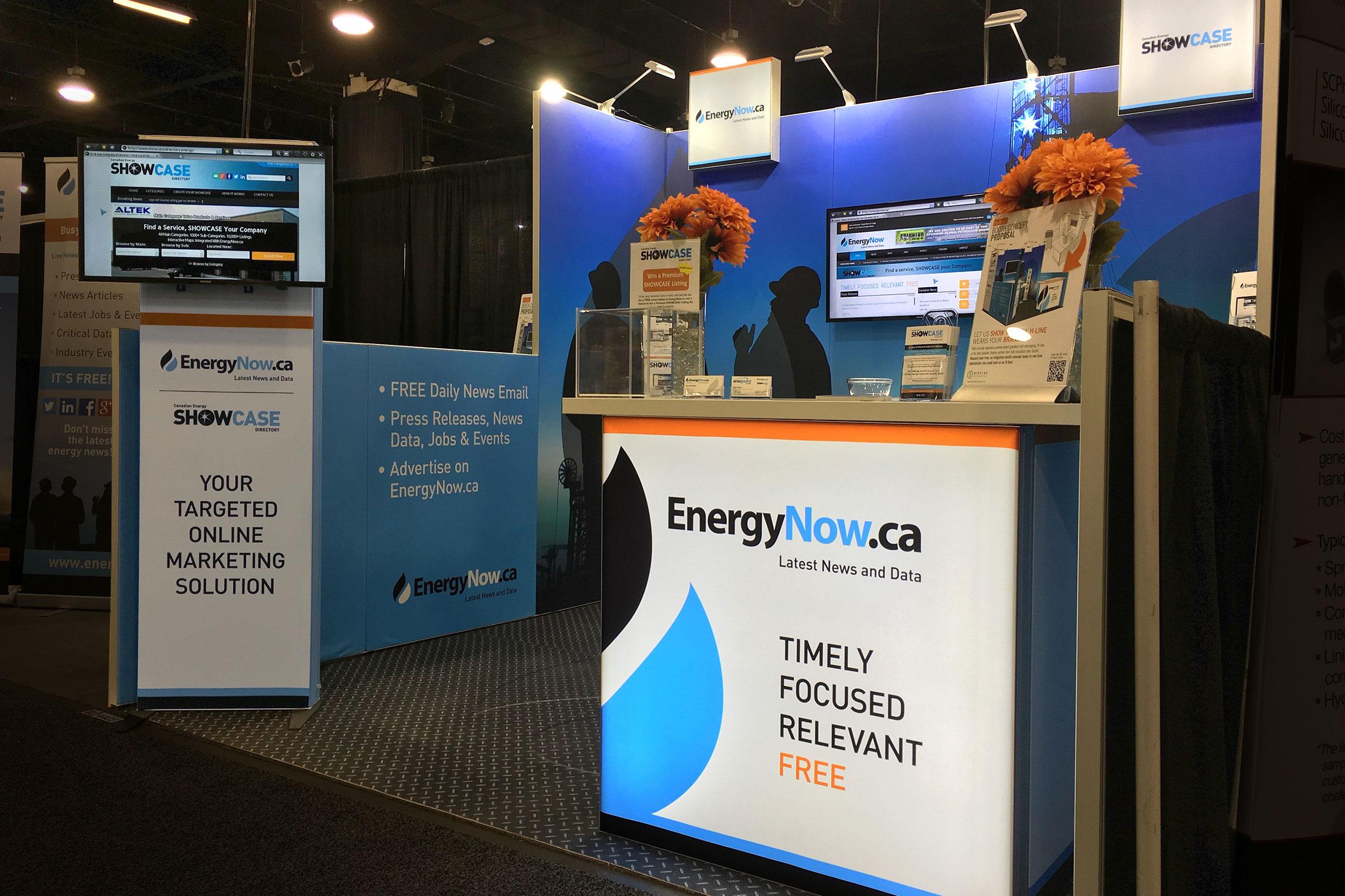 EnergyNow H-line Trade Show Booth Global Petroleum Show 2016