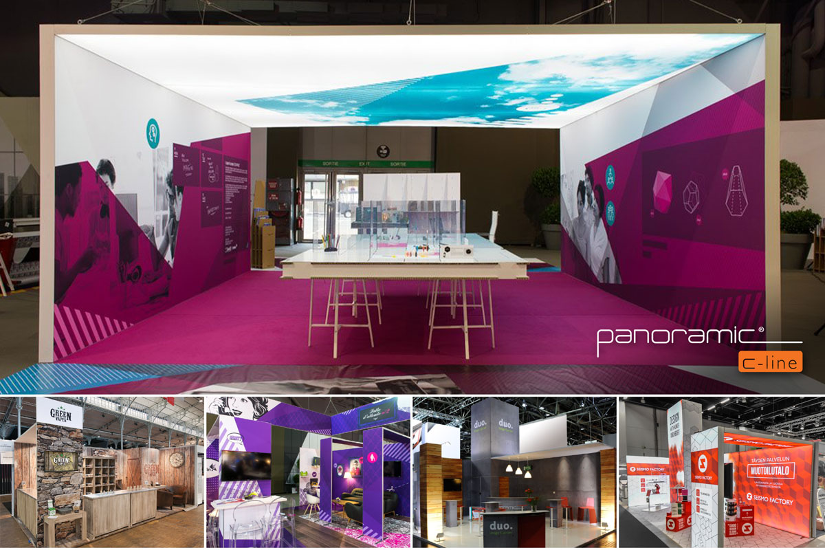 Panoramic C-line - 100% of the surface is dedicated to your message.