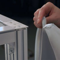 Panoramic Fabric Installation